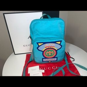 Authentic Gucci 80s logo backpack rucksack travel